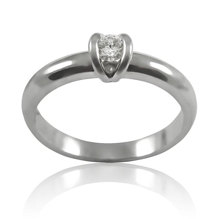 Золота заручальна каблучка з діамантом 0.18 ct «Сусанна»