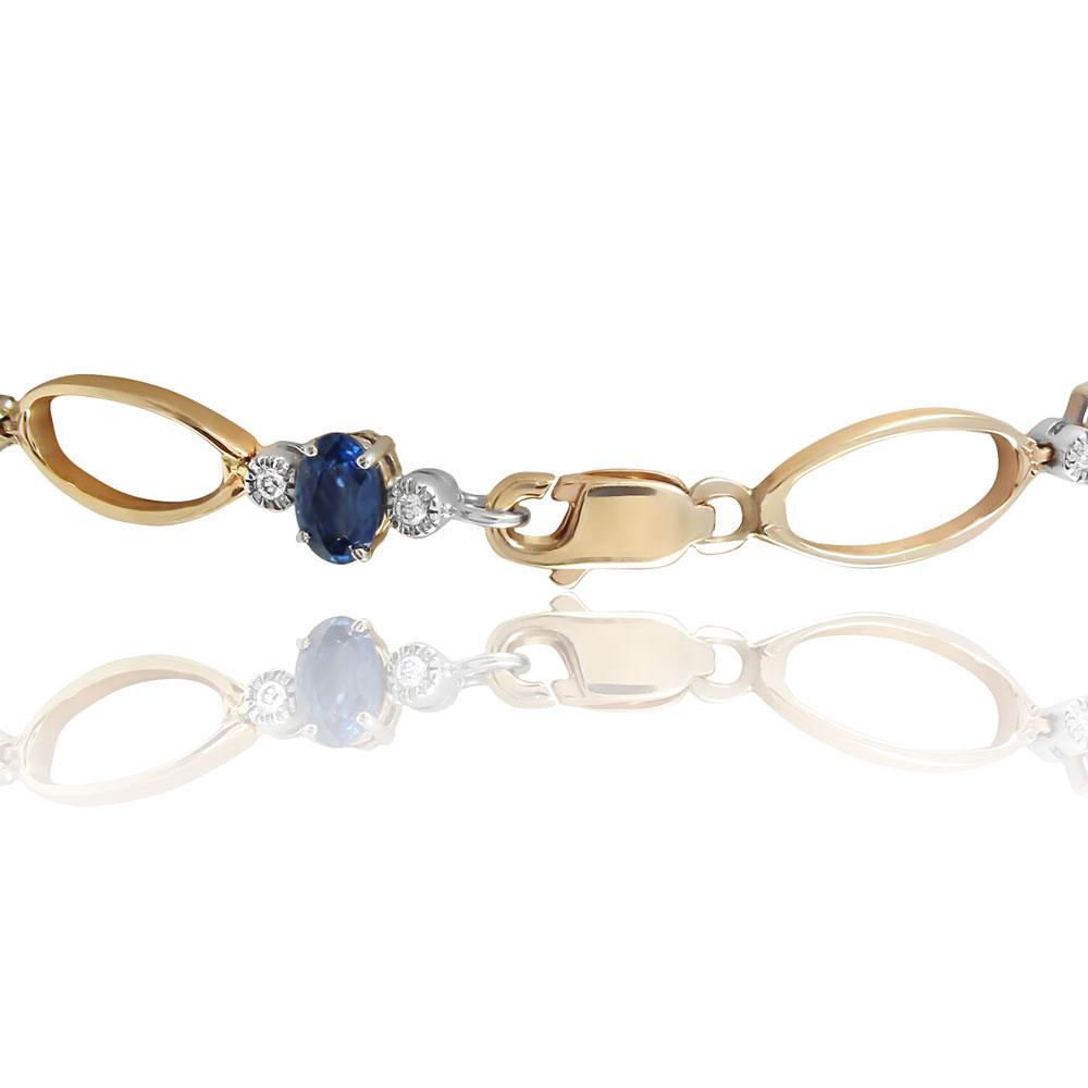 Золотой браслет с топазами «Vilia»