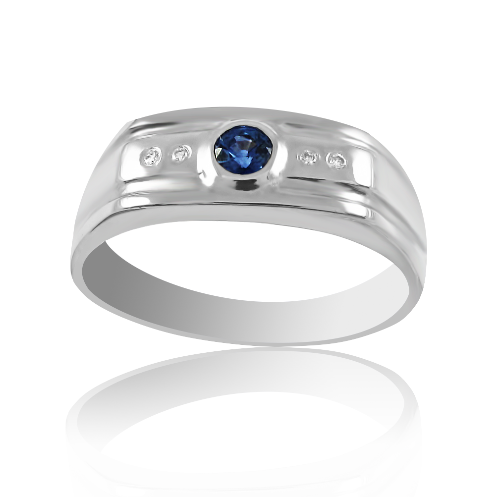 Золотий перстень з сапфіром «Люсьєн»