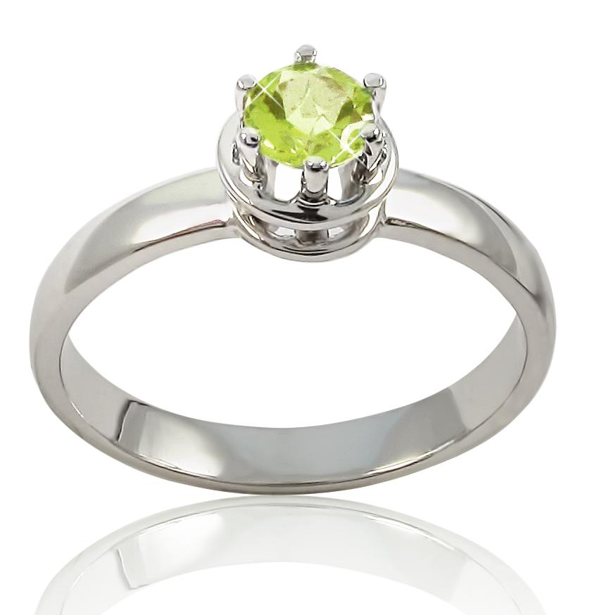 Золотое кольцо с хризолитом «Кай и Герда»