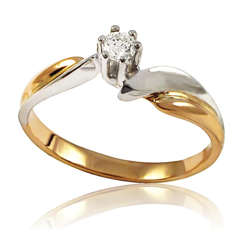Золоте кільце з діамантом «Турандот»