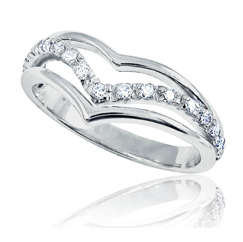 Золотое кольцо «Половинка сердца»