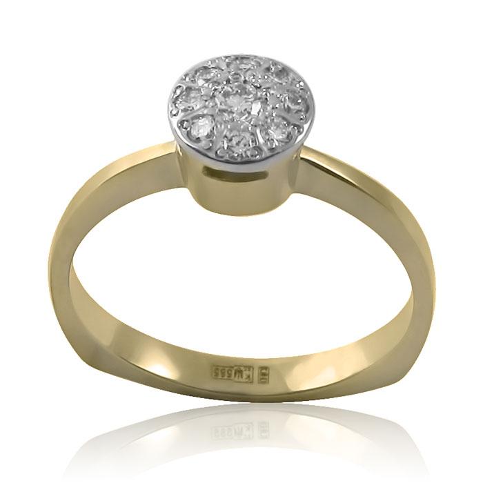 Золотий перстень із діамантами «Жизель»