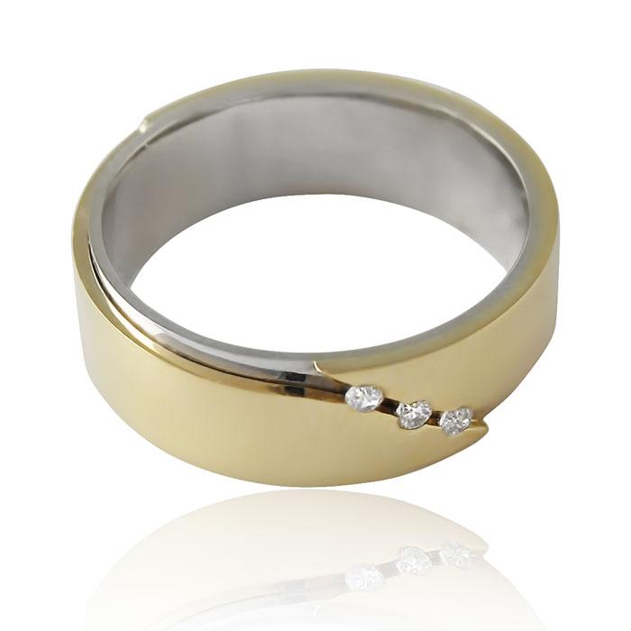 Золота обручка з цирконієм «Perfect Love»