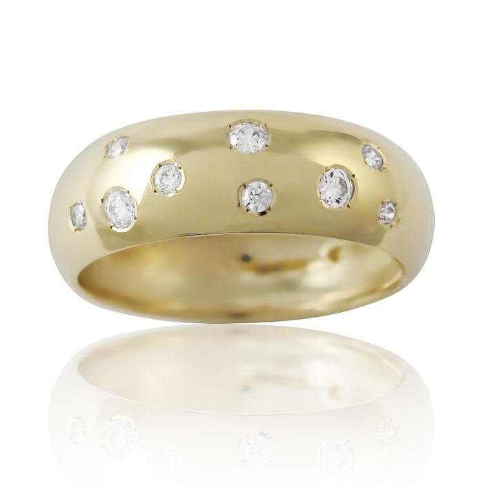 Золота обручка з діамантами «Only You I»
