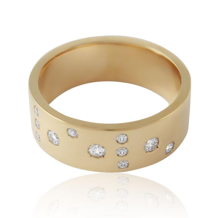 Золота обручка з діамантами «Meine Liebe I»