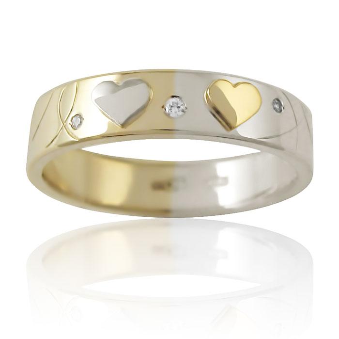 Золота обручка з діамантом «Love Story I»