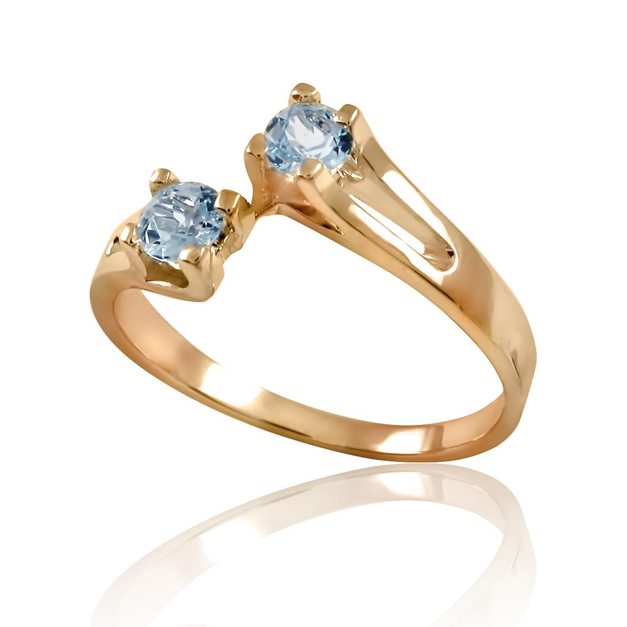 Золоте кільце з топазами «Беллатрікс»