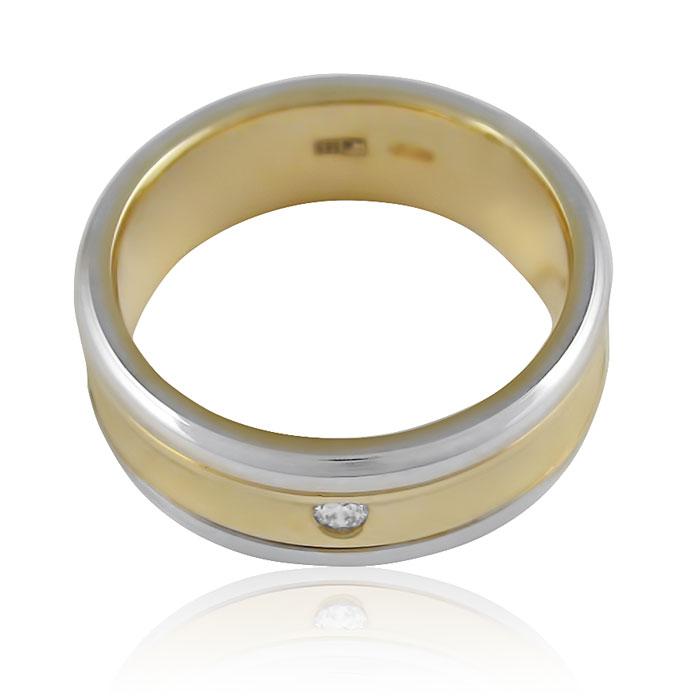 Золотое обручальное кольцо с бриллиантом «I'm with You»