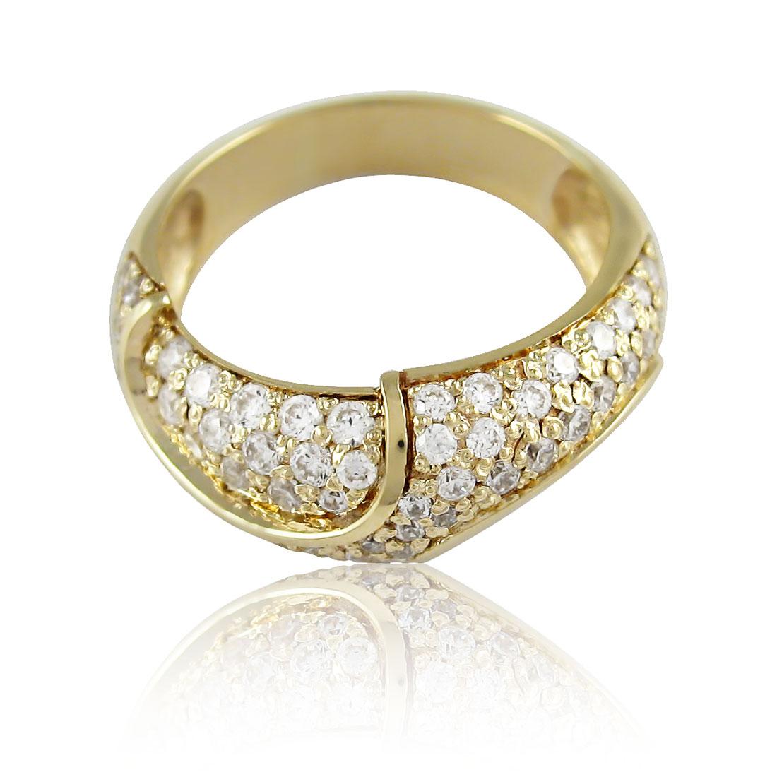Золоте кільце з цирконієм «Лялечка»