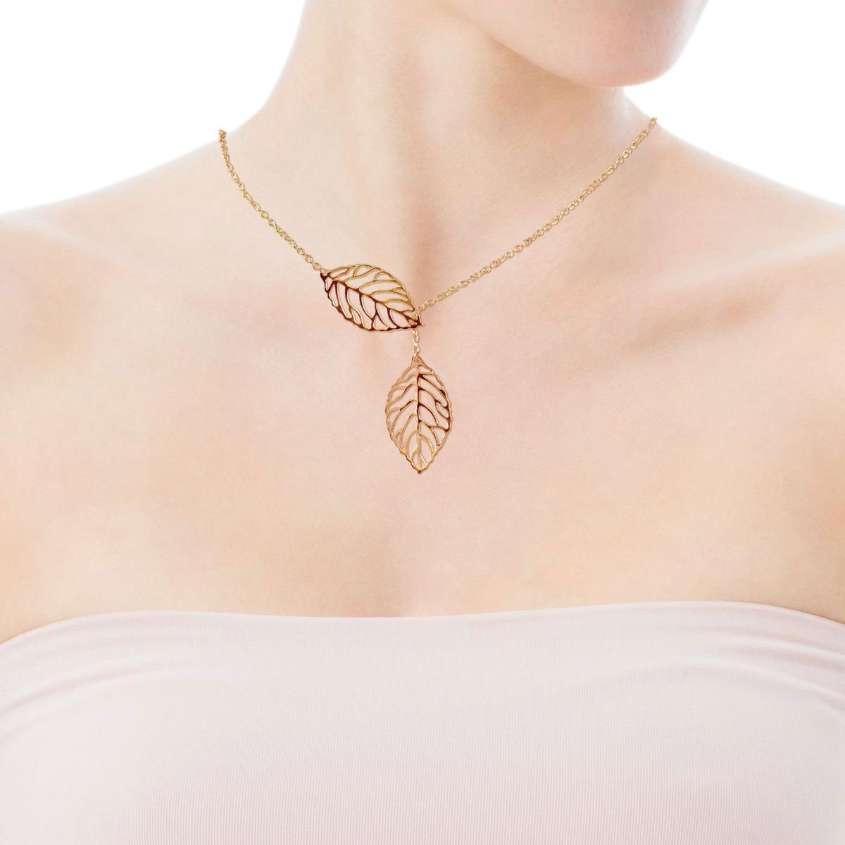 Золотое колье «Golden leaves»