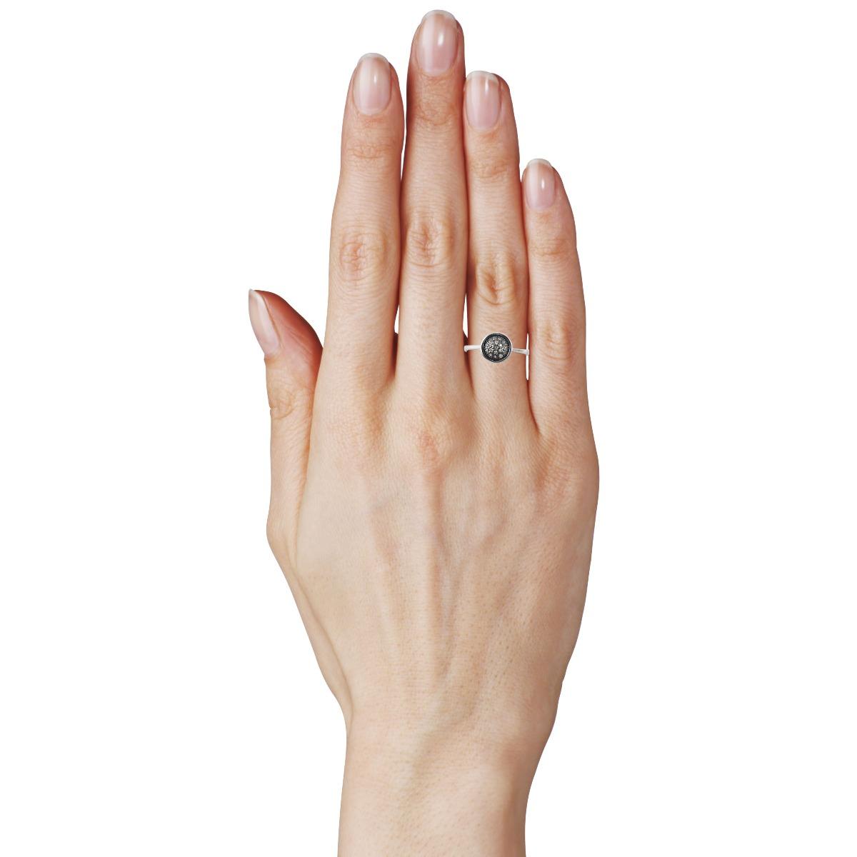 Золоте кольцо з чорнінням «Аеліта»