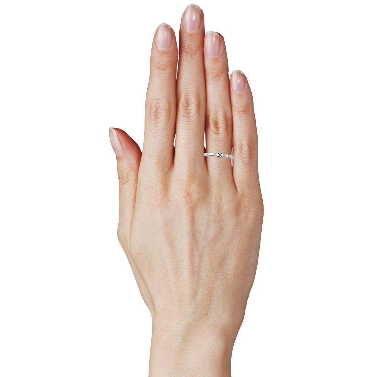 Помолвочное кольцо с бриллиантом 0,03 Ct «Monique»