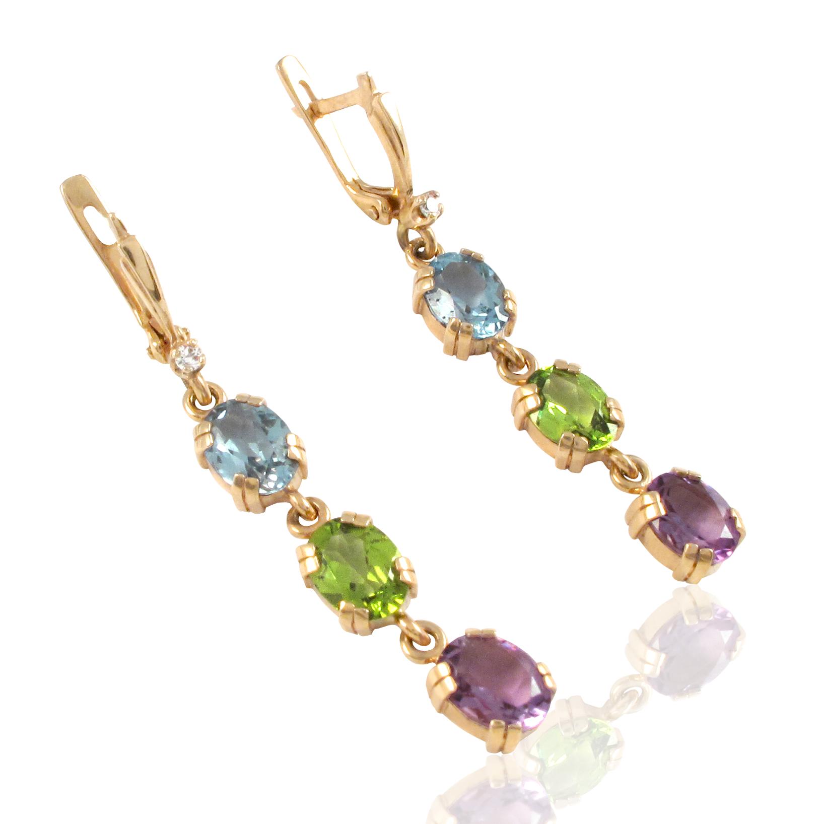Золоті сережки «Василиса»