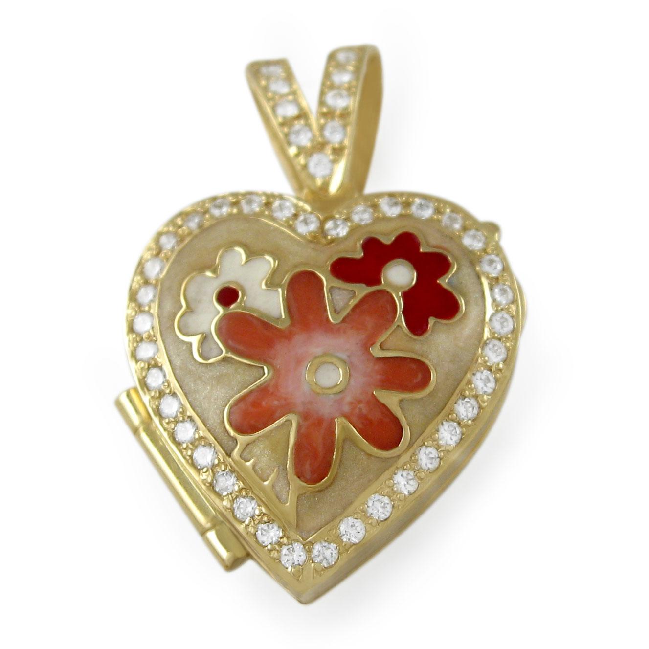 Золота підвіска з цирконієм «Таємниця серця»