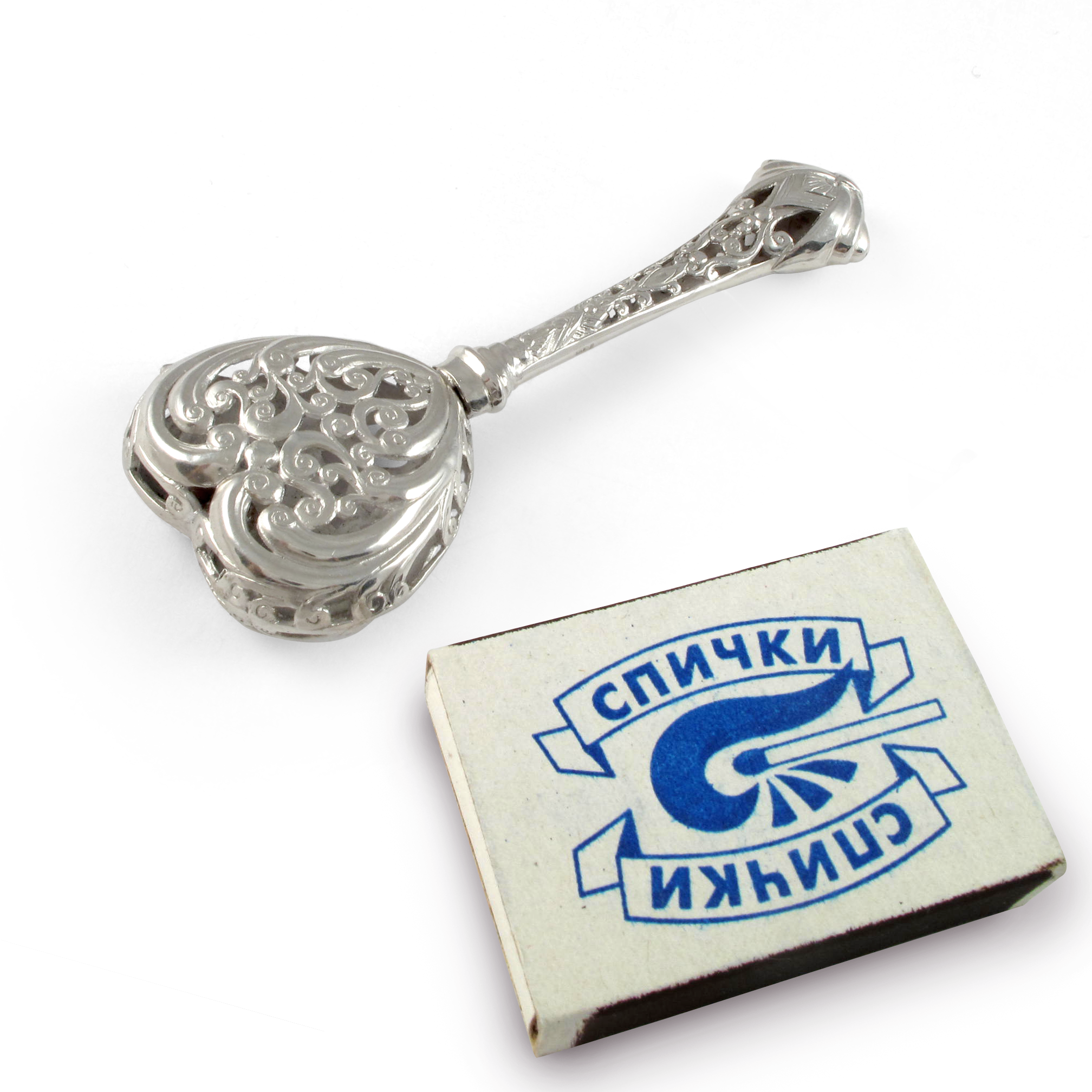 Серебряная погремушка «Облизывай на здоровье»