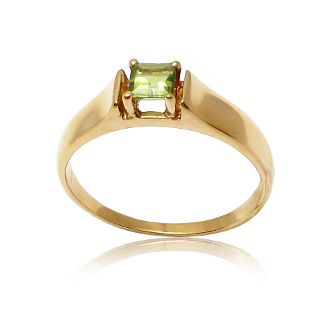 Золотий перстень з хризолітом «Новий світ»
