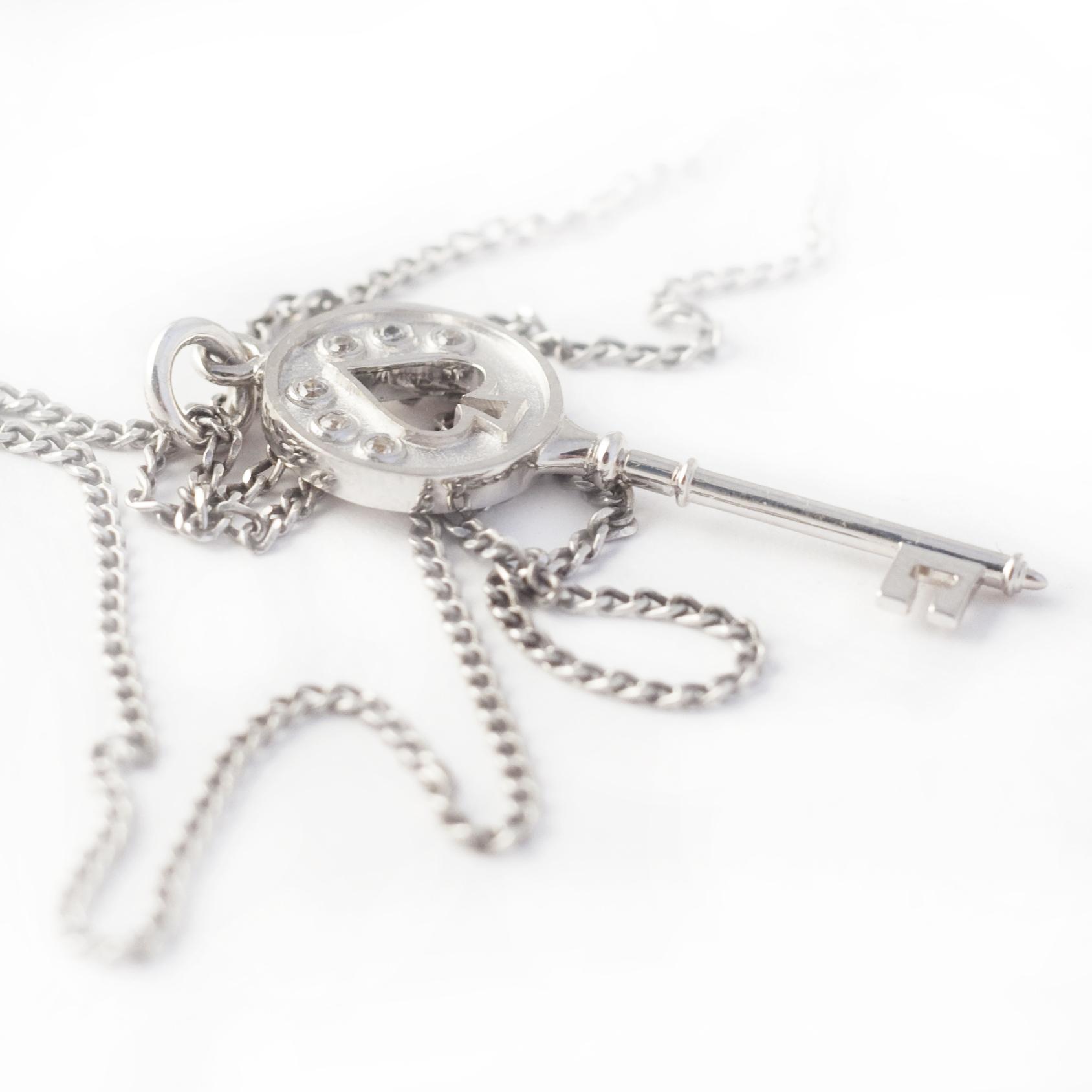 Золотий кулон з діамантами «Ключик»