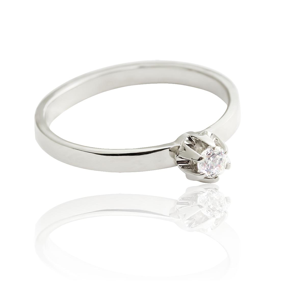 Золотое кольцо на помолвку с бриллиантом «Лорелея»