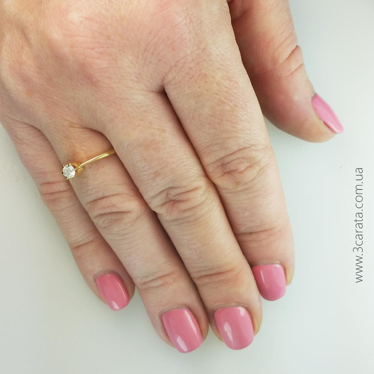 Женское кольцо с кристаллом сваровски «Rendezvous»