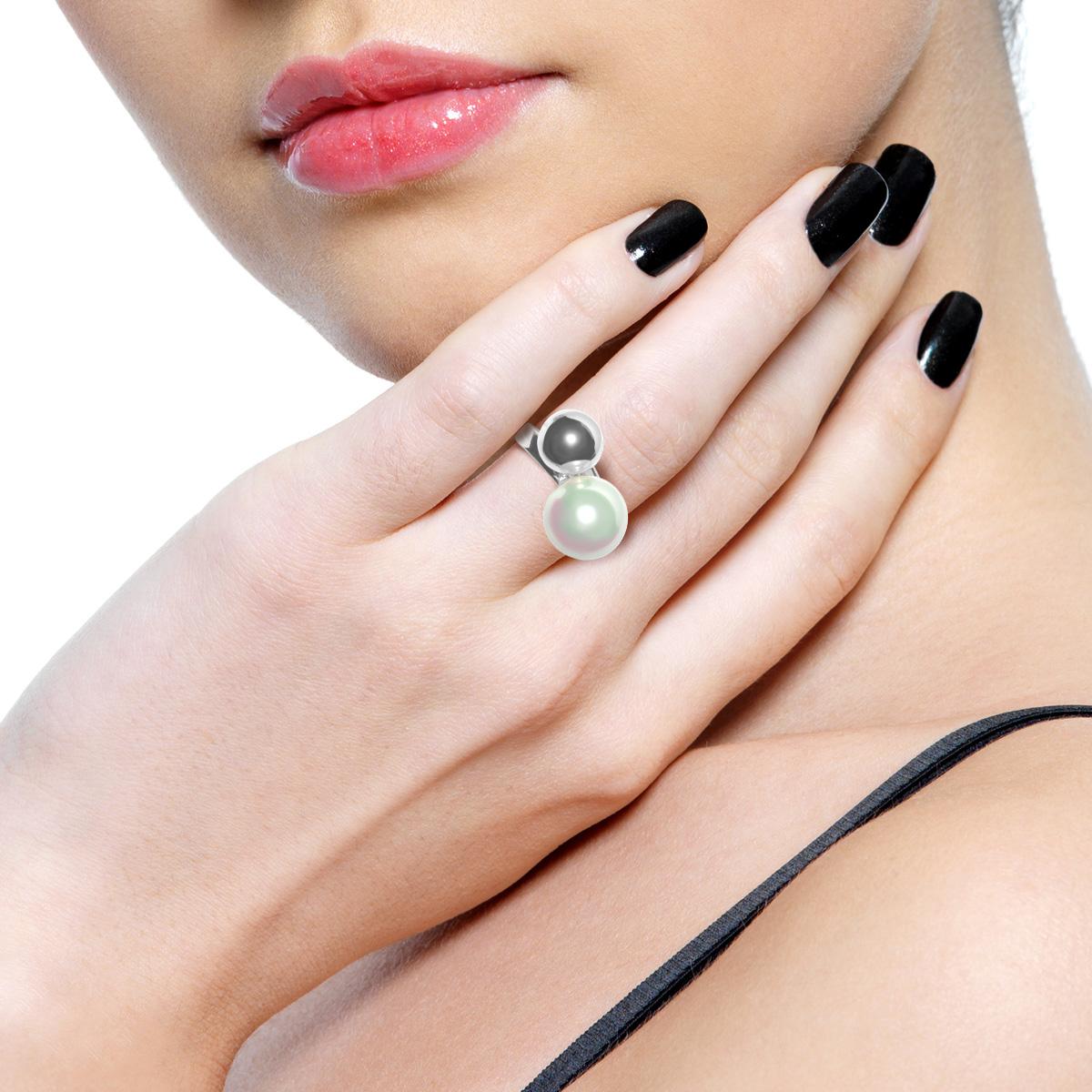 Золотое эксклюзивное кольцо с жемчужиной «Pearl kiss»