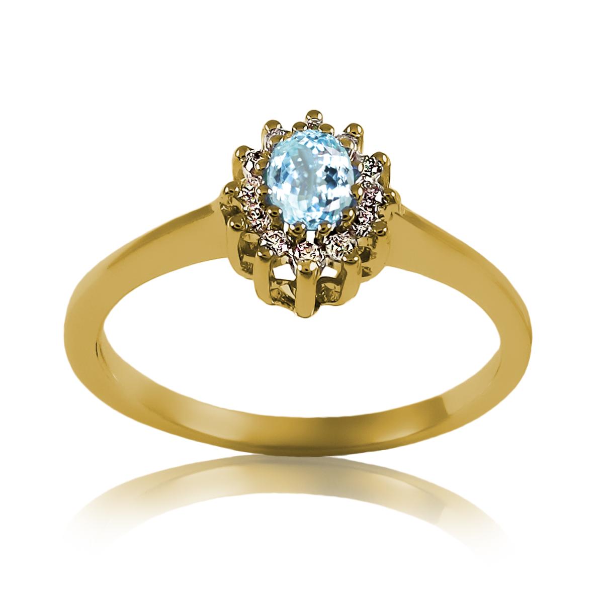 Женское кольцо с топазом «Кармелита»