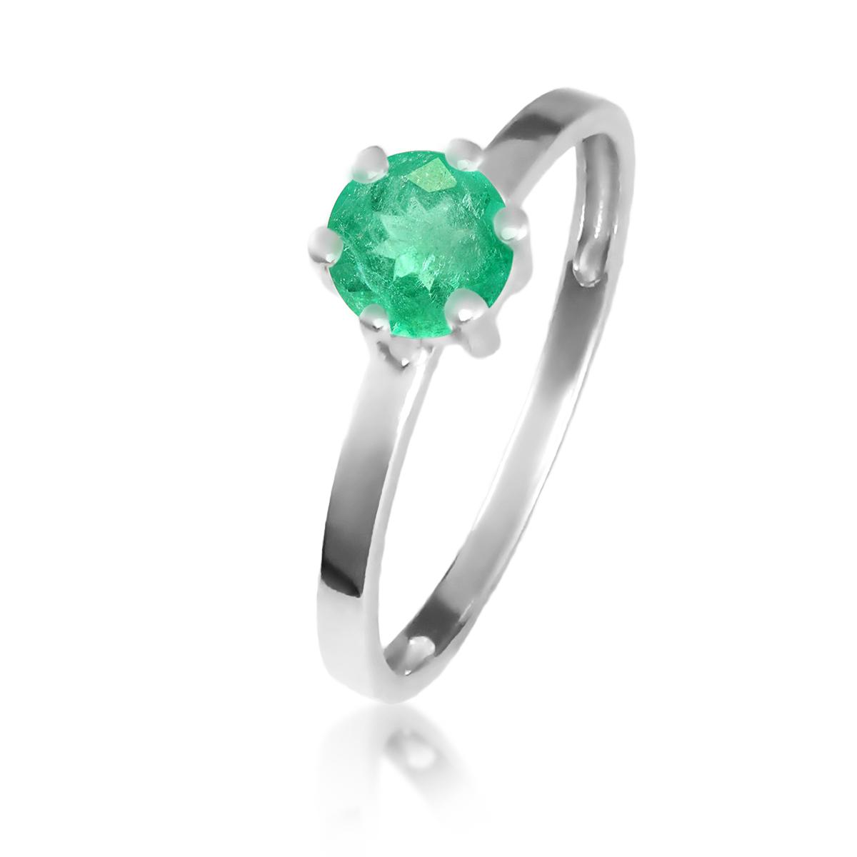 Золоте кольцо з смарагдом «Мальді»