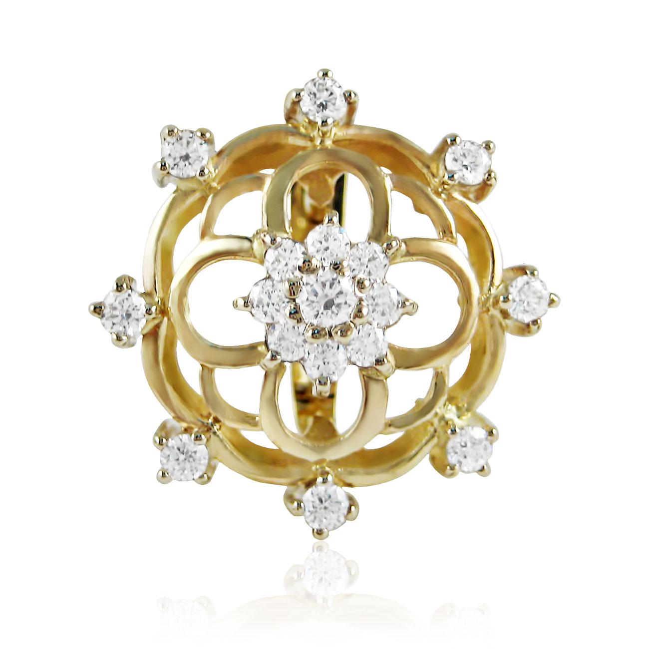 Золоте кільце з фіанітами «Марія Магдалина»