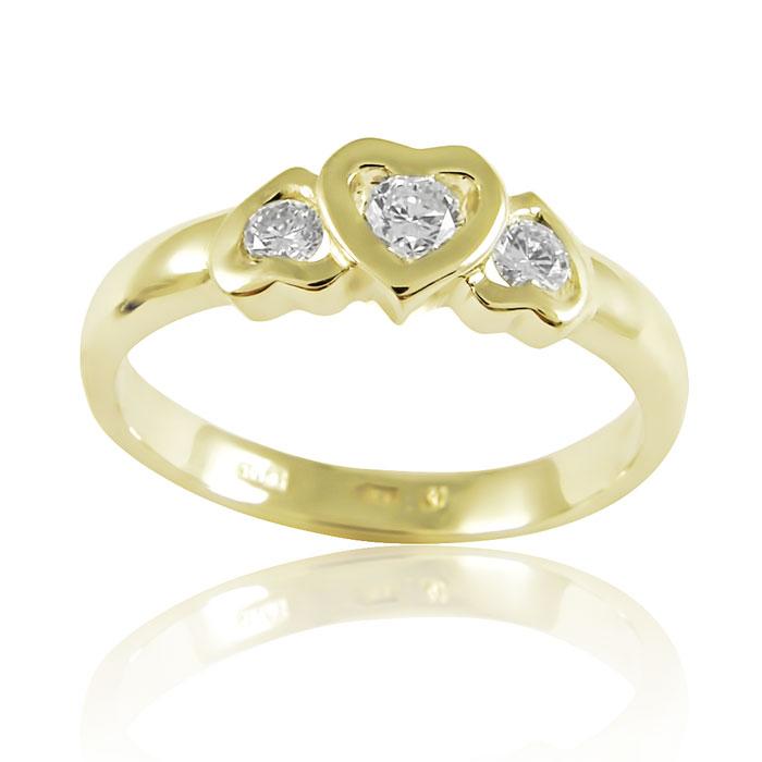 Золоте кільце «Сердечка»