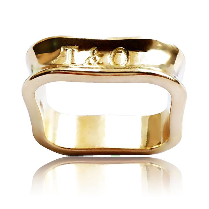 Золота каблучка «Прекрасна Тіффані»