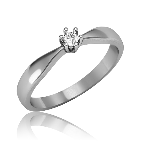 Золотое кольцо с бриллиантом «Янита»