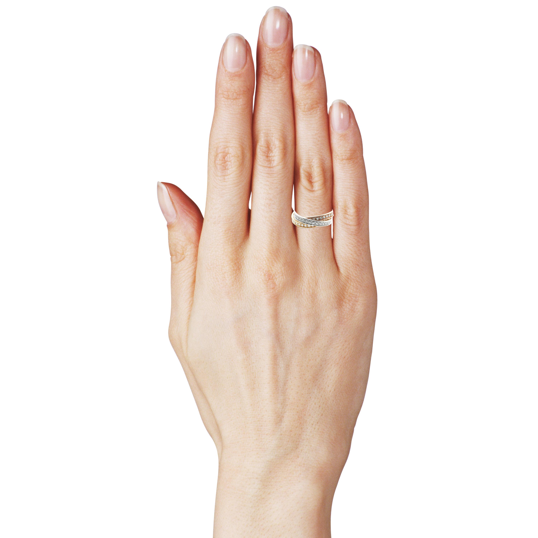 Золотое обручальное кольцо с цирконием «Тринити»