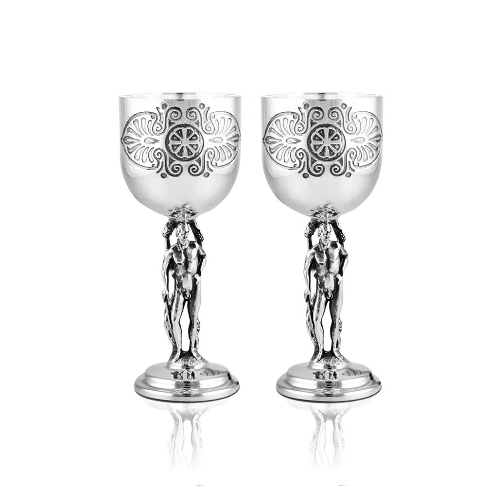 Серебряная рюмка для вина «Греческая»