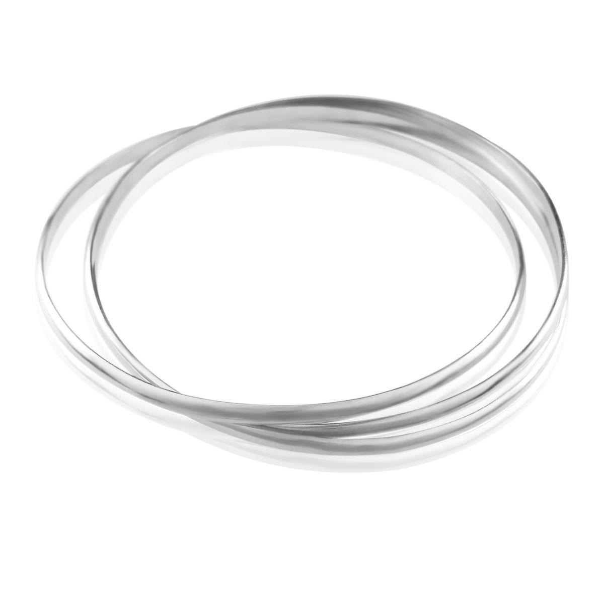Срібний браслет «Трініті»