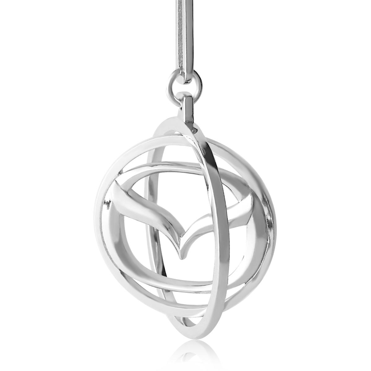 Срібний брелок до машини «Mazda»