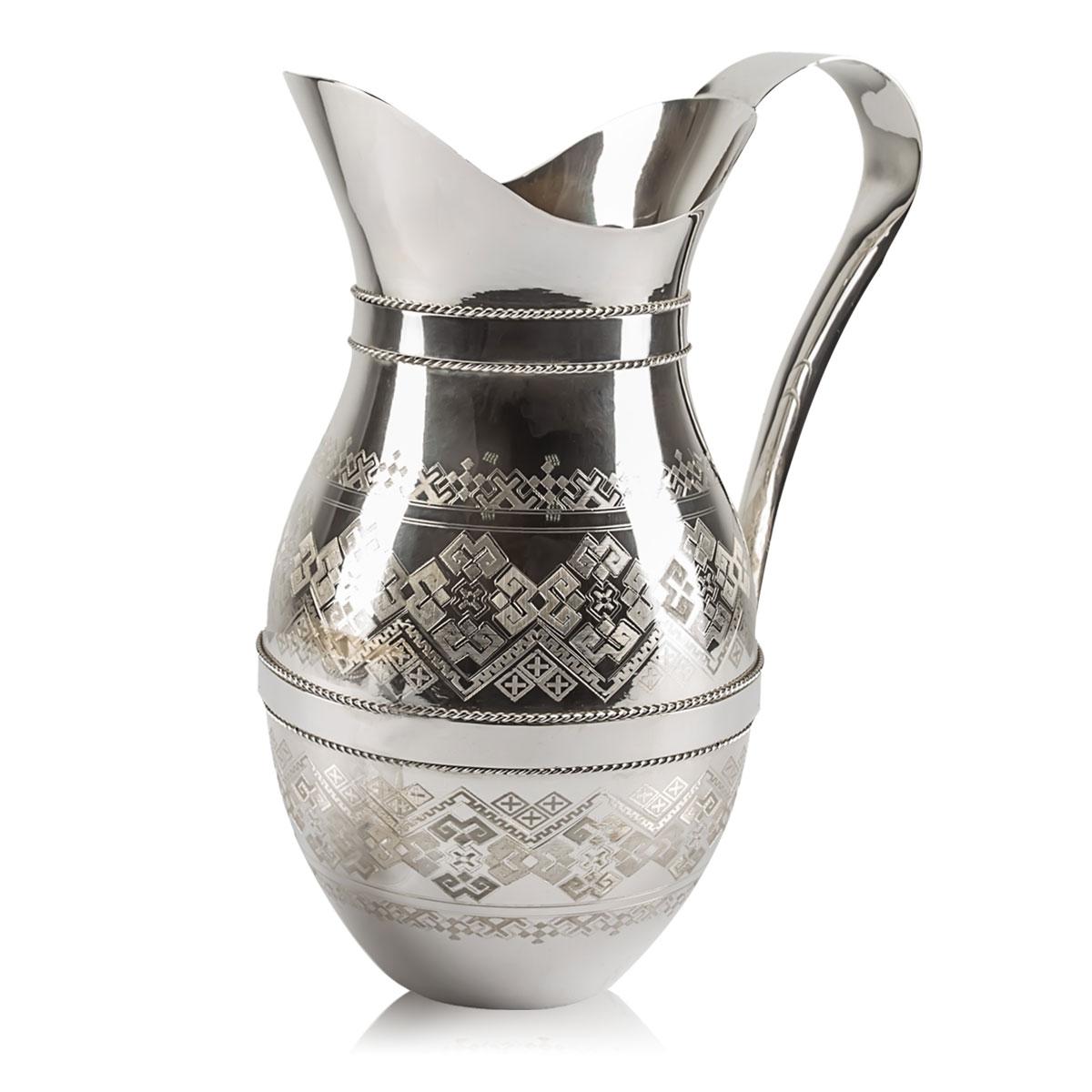 Набір глечик і дві склянки «Срібний»