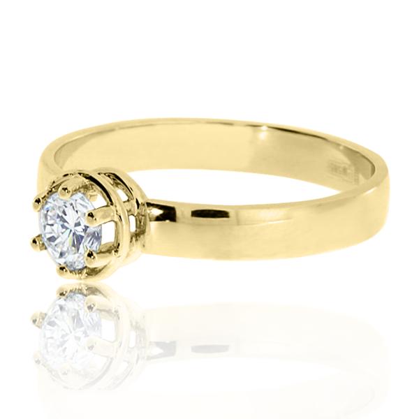 Перстень золотий з діамантом «Неллі»