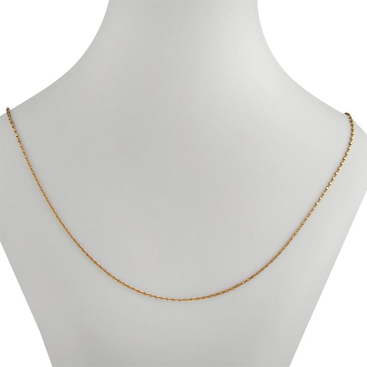 Золотая цепочка с алмазной гранью «Сатурн»