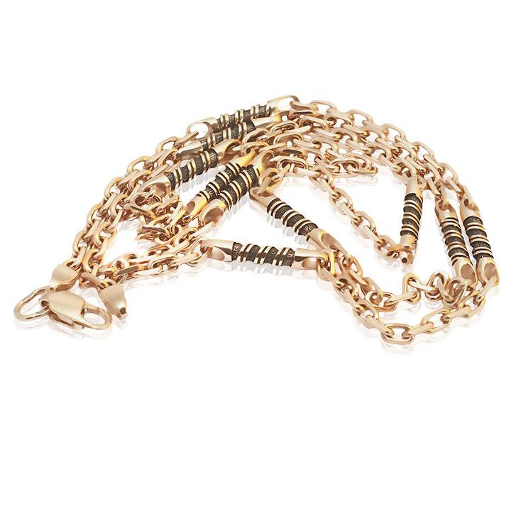 Золотий ланцюжок з чорнінням «Incanto»