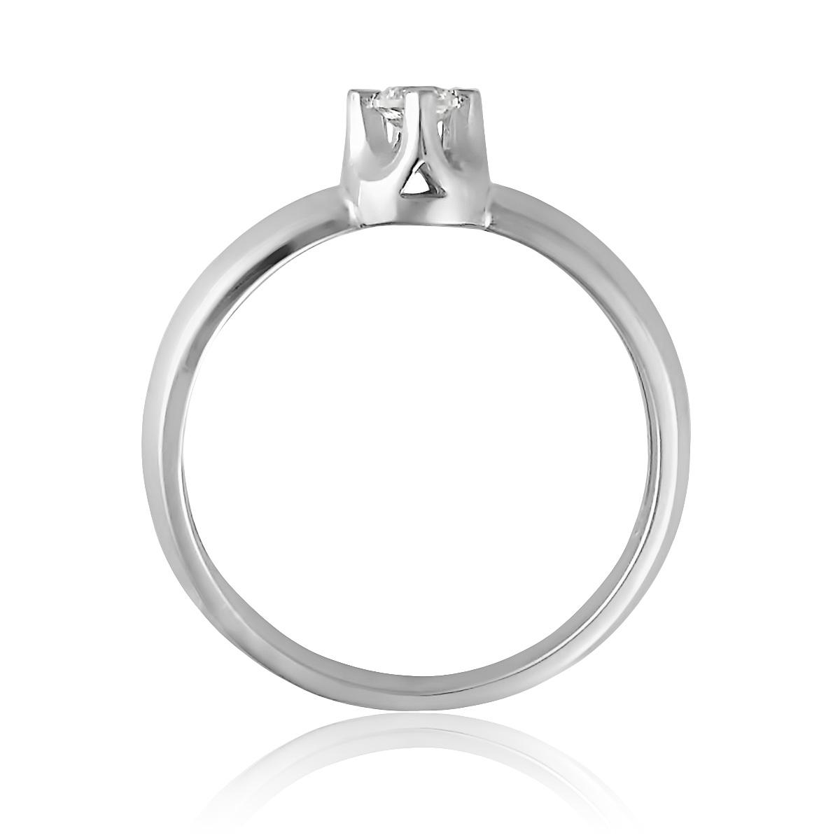 Золотое кольцо для помолвки c бриллиантом 0.06 Ct «Софи»