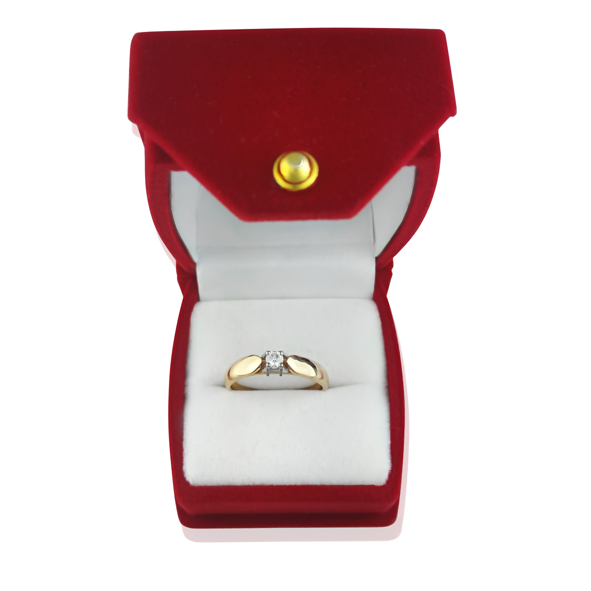 Золотое кольцо на помолвку с бриллиантом 0,10 Ct «Луиза»