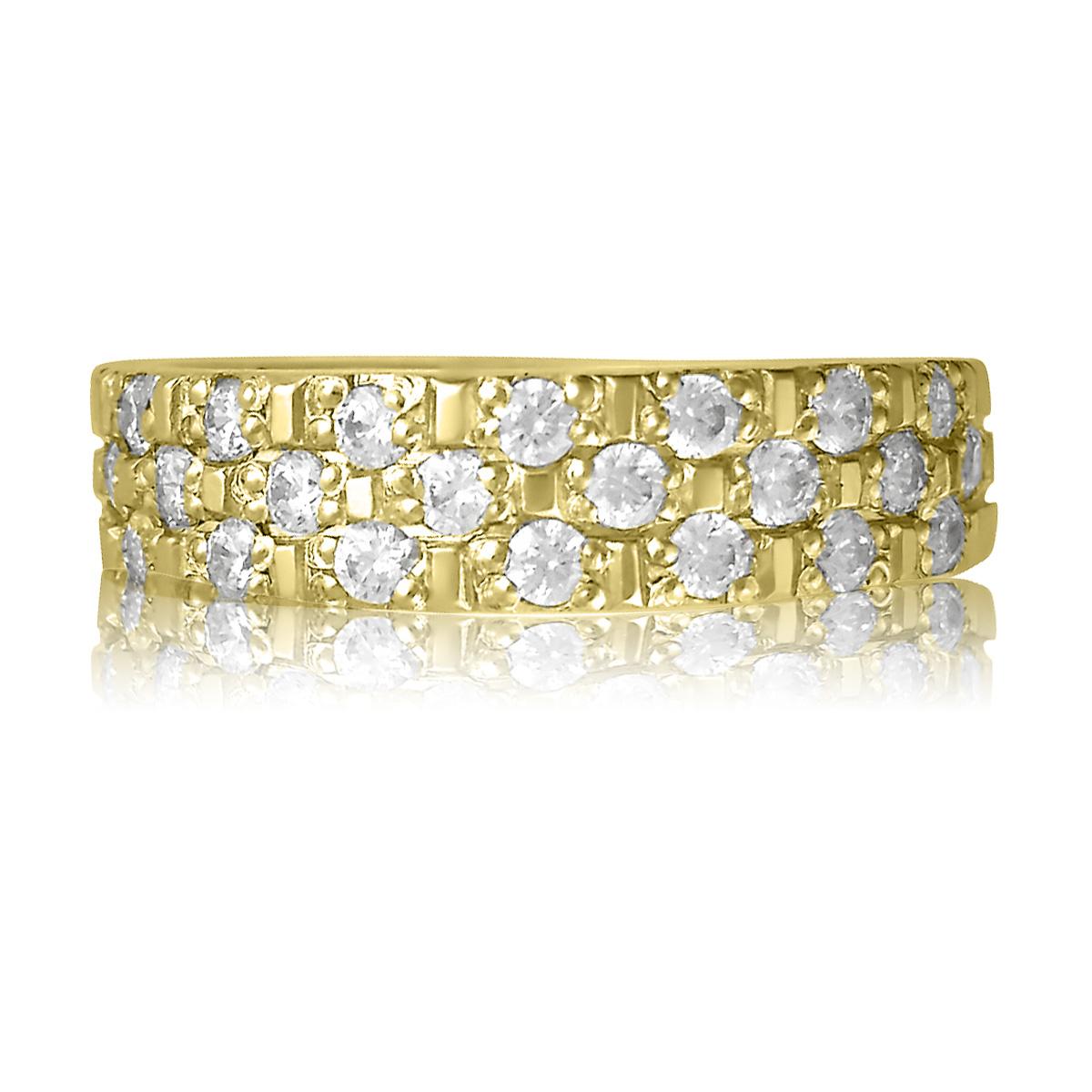 Золотое кольцо с кристаллами Сваровски купить