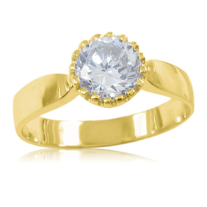 Кольцо на помолвку с горным хрусталем «Viki»