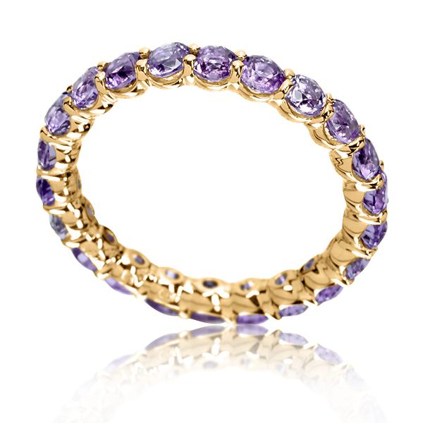 Золотое кольцо с аметистами «Marmalade»