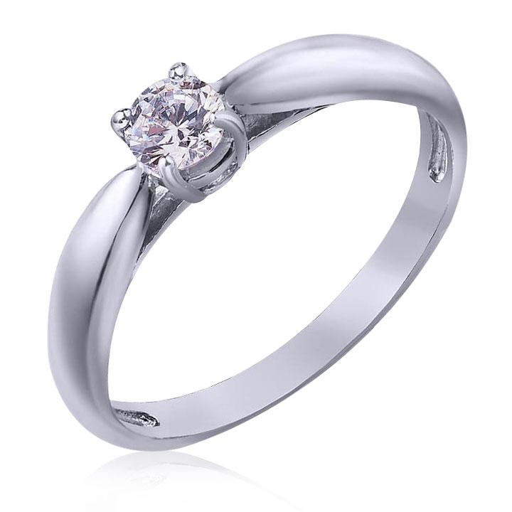 Золотое помолвочное кольцо с фианитом «Галатея»