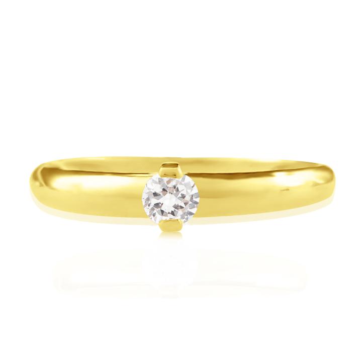 Золотое кольцо на помолвку бриллиант 0.25