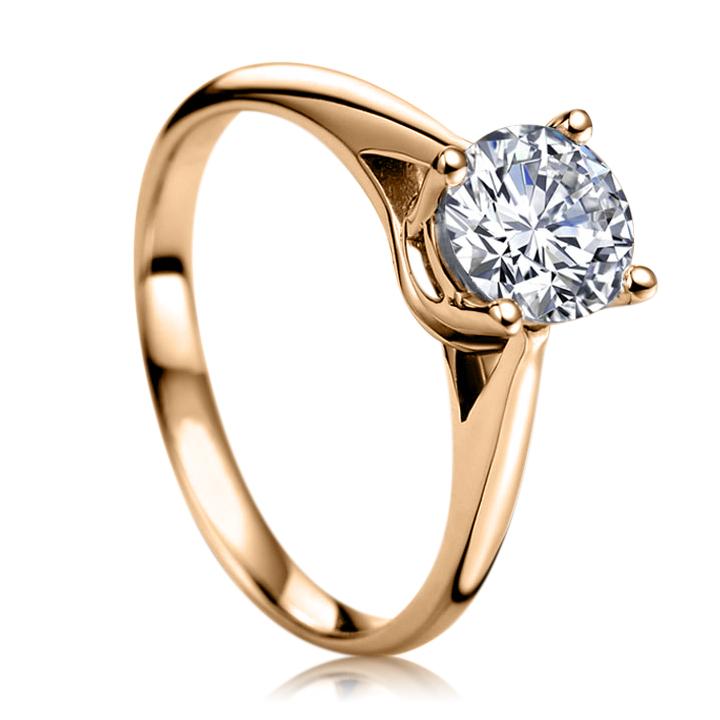 Золотое кольцо с бриллиантом 0,25 Ct «My dream»