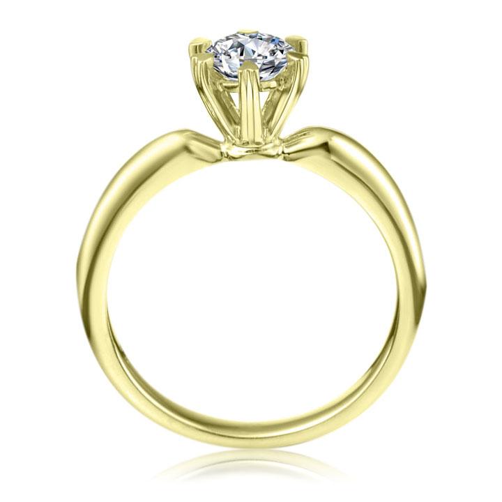 Класична заручальна каблучка з діамантом 0,3 Ct «Грація»