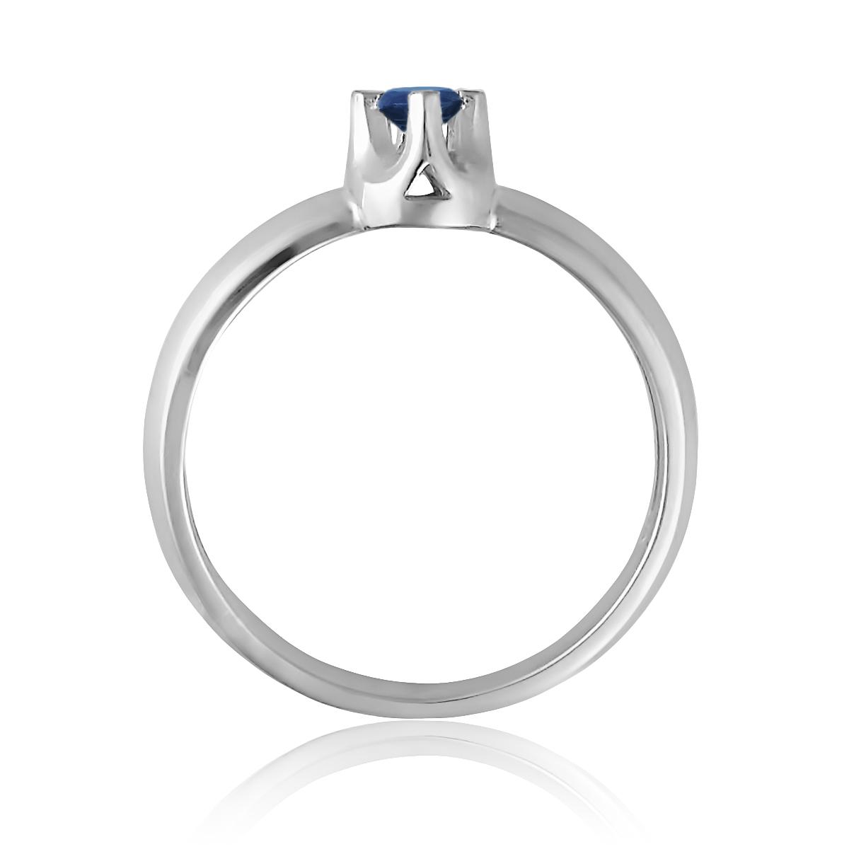 Золотое кольцо для помолвки c сапфиром 0.08 Ct «Софи»