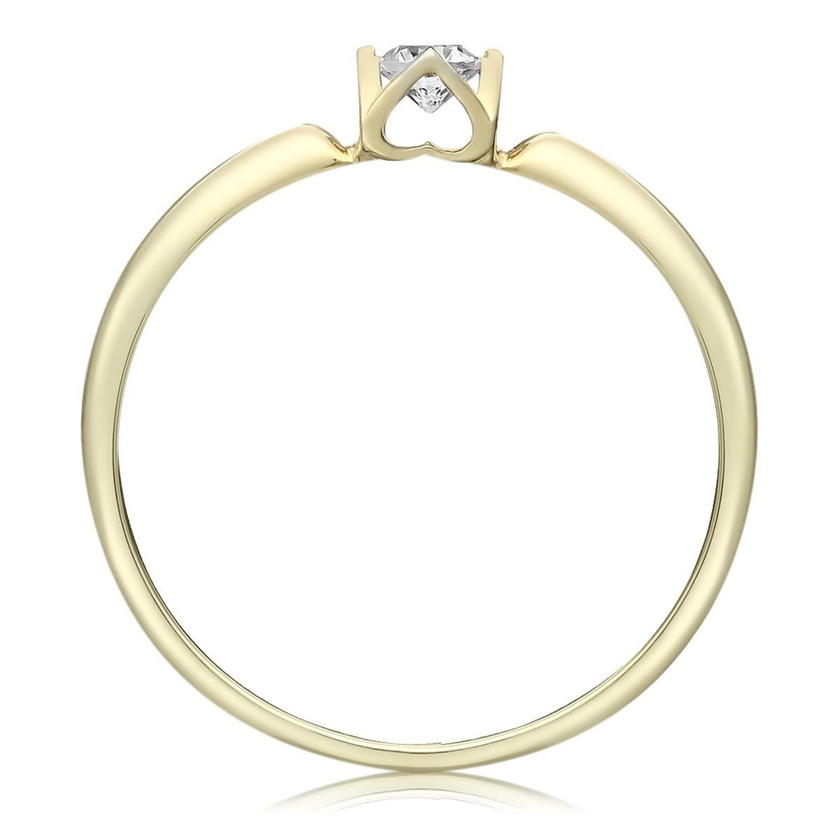 Каблучка для пропозиції з діамантом в сердечках «Amour Classique»